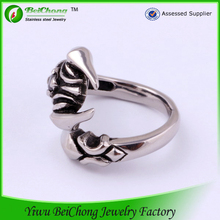 2015 new arrival american popular cheap skull stainless steel ring jewelry for men