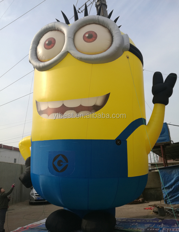 Costume advertising inflatable minion mascot,inflatable minion