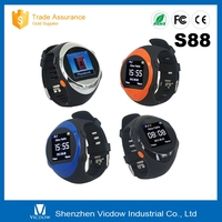 S88 New arrival mobile watch with heart rate monitor Local SMS watch Bluetooth Phonebook Sync Pocket Smart WIFI Watch Phone