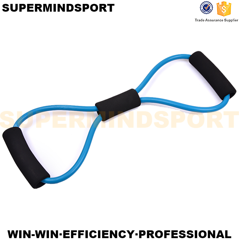Factory Outlet Digital Chest Expander Fitness Yoga 8 Shape Resistance Band