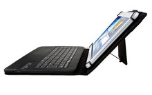 New style universal 8inch tablet leather case with bluetooth 3.0 keyboard wireless, stand function