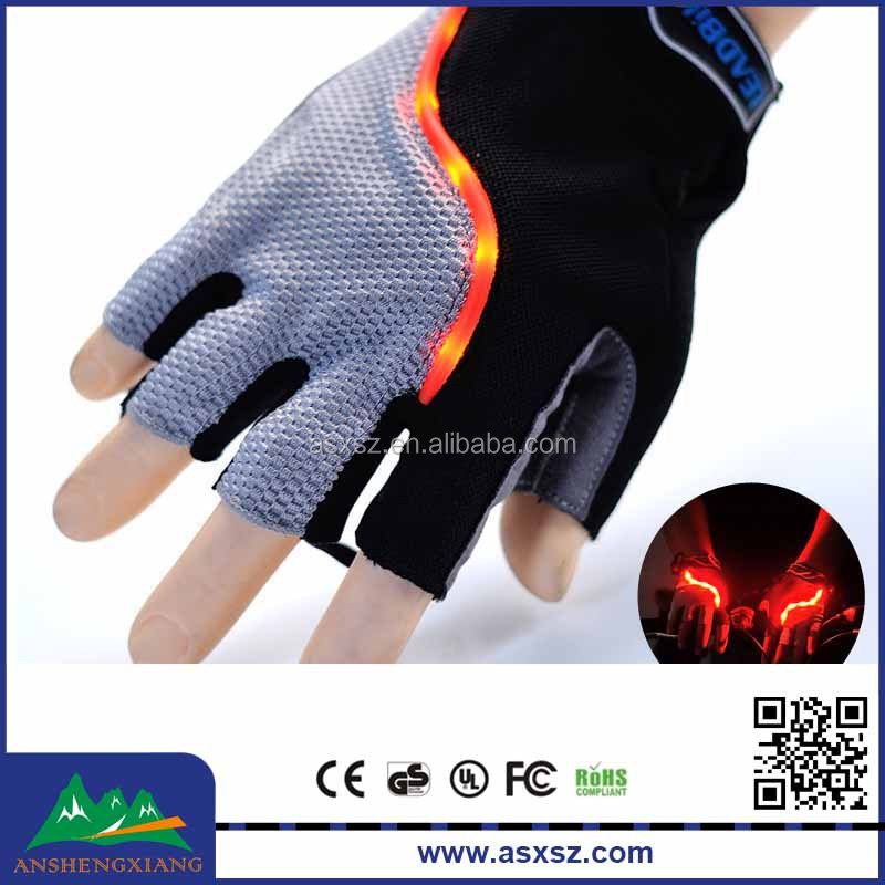 Bicycle riding gloves half finger gloves LED Light phone touch gloves