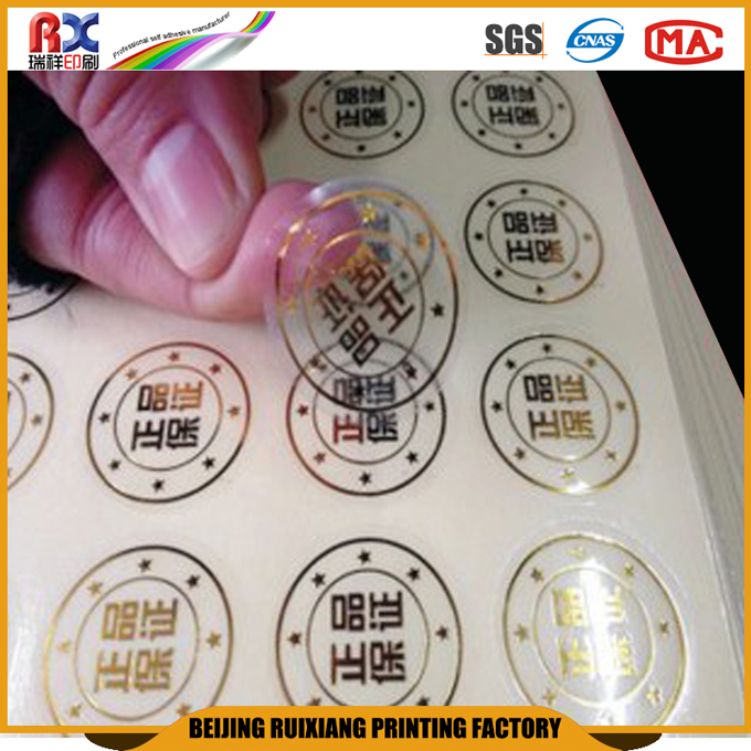 2016 China factory cheap label OEM ODM decals vinyl PVC ISO standard art paper