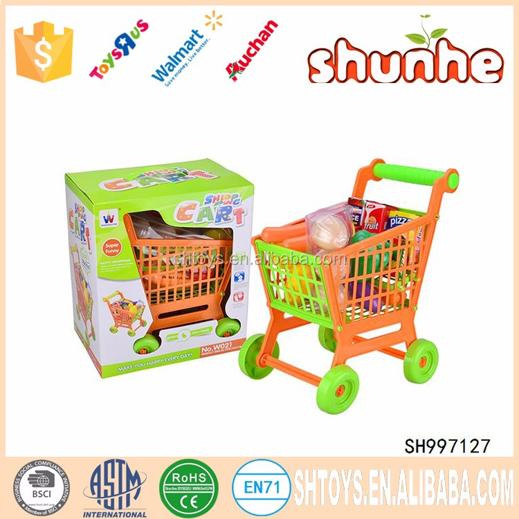 Super funny kid shopping cart toy play set