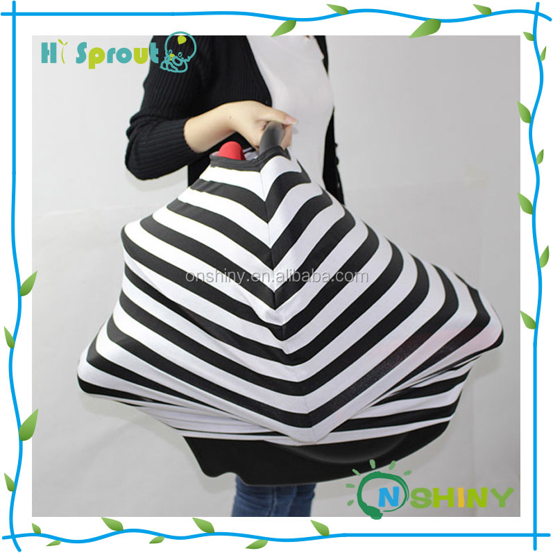 Multi-Use Stretchy 3 in 1 Baby Car Seat Cover Canopy and Nursing Cover