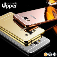 Back cover case for samsung a5 2016,hybrid metal mirror shockproof case for samsung galaxy j7