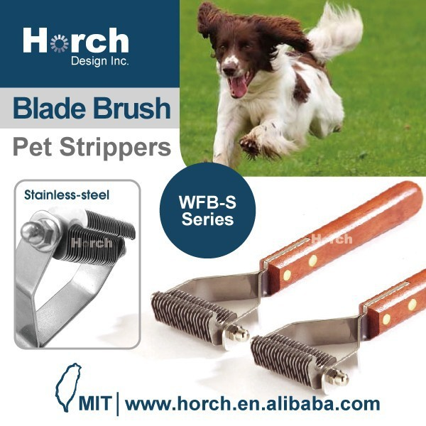 Master Groomer Stripper Tool Hair Ball Dog Cat Blade Brush
