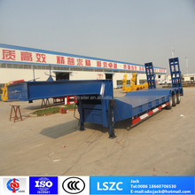 3 axles low bed trailers for heavy machine transport