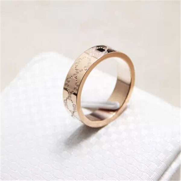 Yiwu Aceon stamped pattern replicas jewelry stainless steel gold plated ring trending hot products