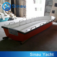 6M 12 seats military patrol boat for sale fiberglass boat hull with CE approved