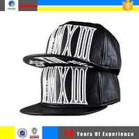 bulls custom black leather snapback