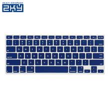 "Waterproof Silicone Keyboard Cover for macbook Air/ Pro 13"" Custom Printed Keyboard Protector Laptop Keyboard Skin Cover"