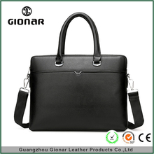 OEM Pu Leather Briefcase Black Crossbody Briefcases For Business Man