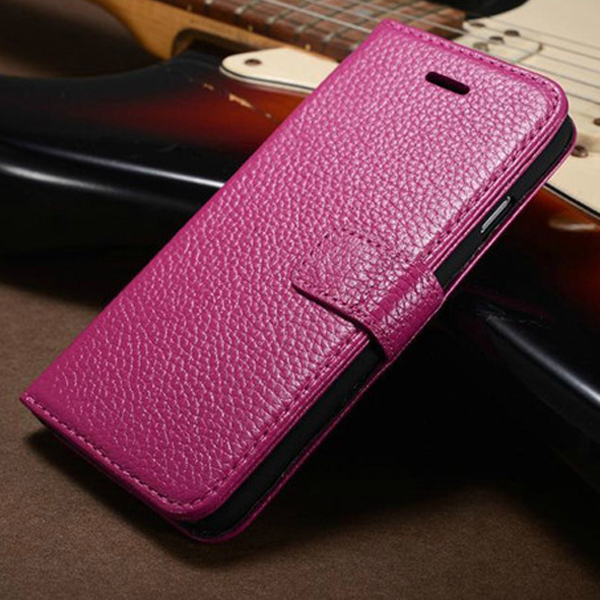 Genuine Full Grain Leather Handmade Flip Wallet Case For iPhone 6 6s