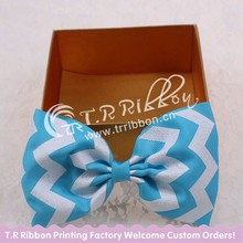 big hair bows hair bows with clips glitter blue chevron about 4inches