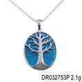 Fine Jewelry Custom Designs Tree of life Turquoise Stone Handmade Pendant DR032753P