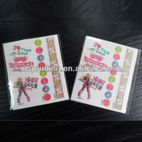 temporary glitter body tattoo sticker printing