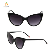 customized high quality acetate cr39 cat eye shape polarized sunglasses with your own logo