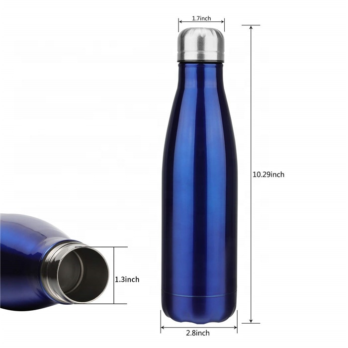 Double Walled Stainless Steel Cola Shape Water Bottle Outdoor Sports