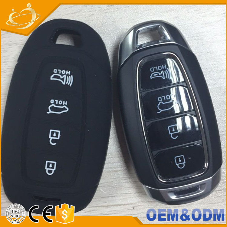 2017 New Arrival silicone 4 Buttons Smart Remote car key cover case for Hyundai