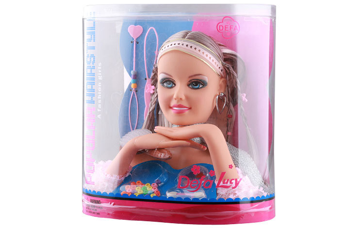 Makeup Doll Head For Kids Hair Styling Head Model Doll