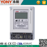 High quality measure accurately single phase prepaid energy meter with IC Card and software