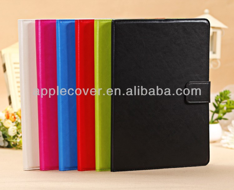 Stand leather case for ipad air cover with 3 card slots
