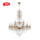 15314-12+6+6 Home decorative lighting 24 bulbs 2018 indoor K9 crystal chandelier in china