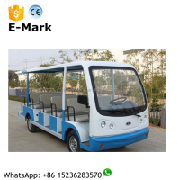 new luxury 14 seat tour bus price in China, electric passenger tour shuttle bus with gasoline/petrol bus optional