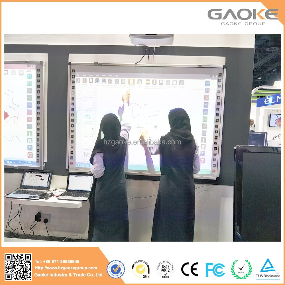 Digital white board smart board price usb interactive whiteboard with projector