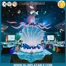 Hanging huge center stage inflatable octopus for concert/party