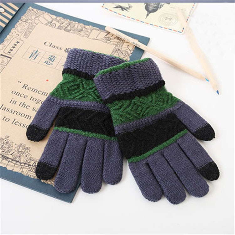 Supply Yhao ONE SIZE Men Women Winter Knit Warm Touch Screen Mittens