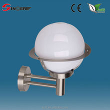 classical stainless steel and plastic garden light