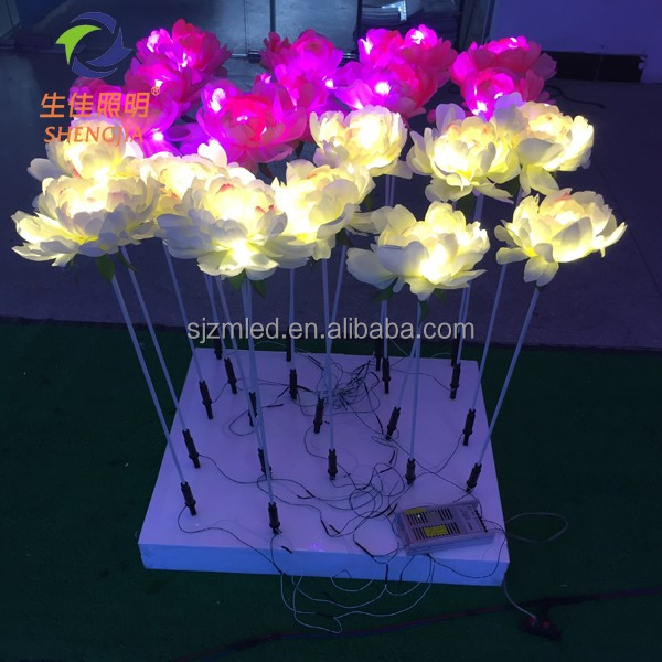Christmas Holiday Name 12v voltage decorative artificial table led fake rose flower