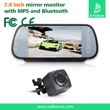 "7"" LCD TFT Color Mirror Monitor + CMOS Car Rear View Reverse Backup Camera Kit"