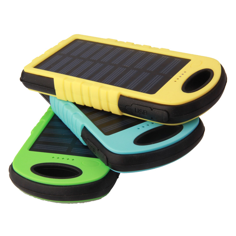 2017 traveling LED light waterproof solar energy power bank with 5000mah or 8000mah or 10000mah or 15000mah