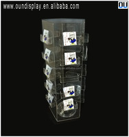 floor standing greeting card display rotatable Christmas postcard stand