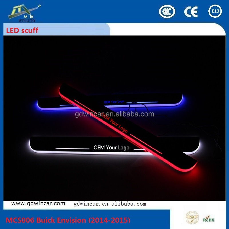 2015 Brilliant Waterproof Door Sill LED Scuff for Chevrolet Cruze 2009-2013