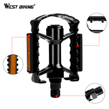 WEST BIKING Bicycle Pedal Alloy Mountain Anti-slip Road Bicycle Pedals Ultralight Outdoor Sports Mountain Custom Bike Pedals
