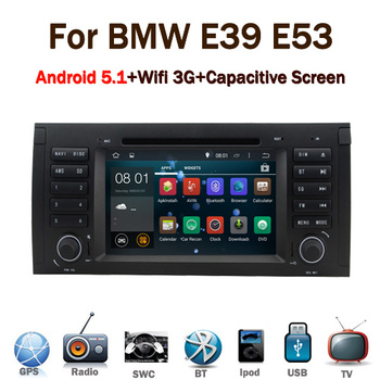 2016 Latest 5.1 android car stereo for BMW E39 E53 X5 with Wifi 3G GPS Bluetooth Radio RDS CANBUS Steering wheel control