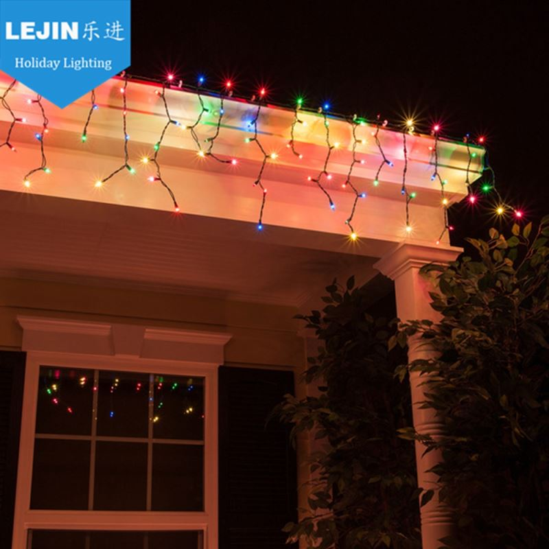 Christmas multicolor falling icicle lights video With CE certificate event decoration