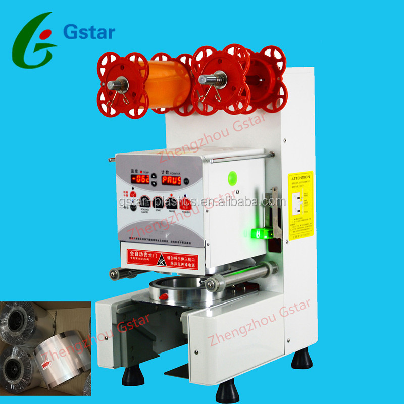 Top Quality Disposable Paper Plastic Cup Sealing Machine Automatic Cup Sealer Machine for KFC&Chains Stores