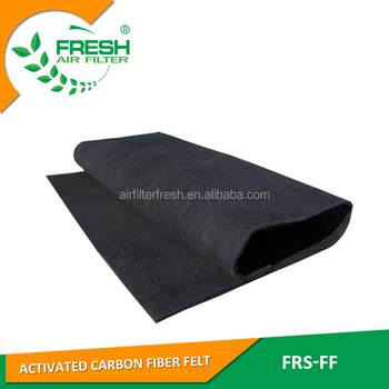 B1 Dust removal and deodorization filtration in activated carbon fiber air filter sheets