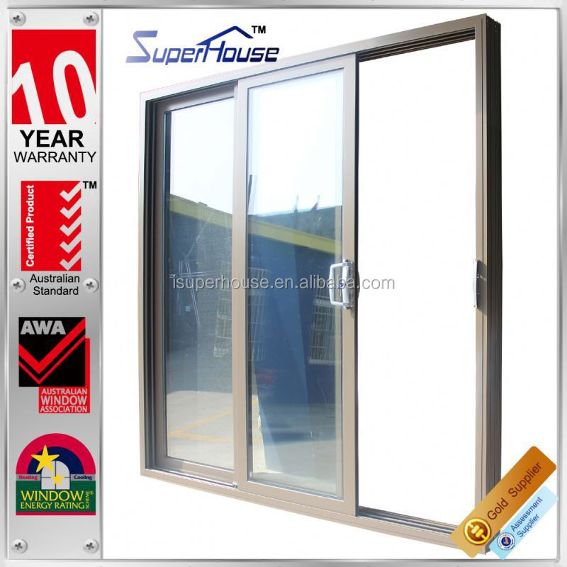 sound proof and weather proof insect screen aluminum multi track sliding door