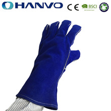 HANVO 14 Inch Long Cuff Kevlar Leather Welding Gloves