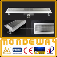 Hot pattern SS304 linear drain for European market length 700mm LUXURY SHINING or BRUSHED FACE french storm drain