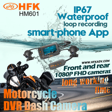 2017 New motorcycle accessories, HD 1080P motorcycle riding camera, Wireless control waterproof motorcycle dvr camera recorder