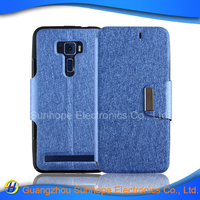 tpu pu leather flip cell phone case for ASUS Zenfone 3 ZE520KL mobile phone case