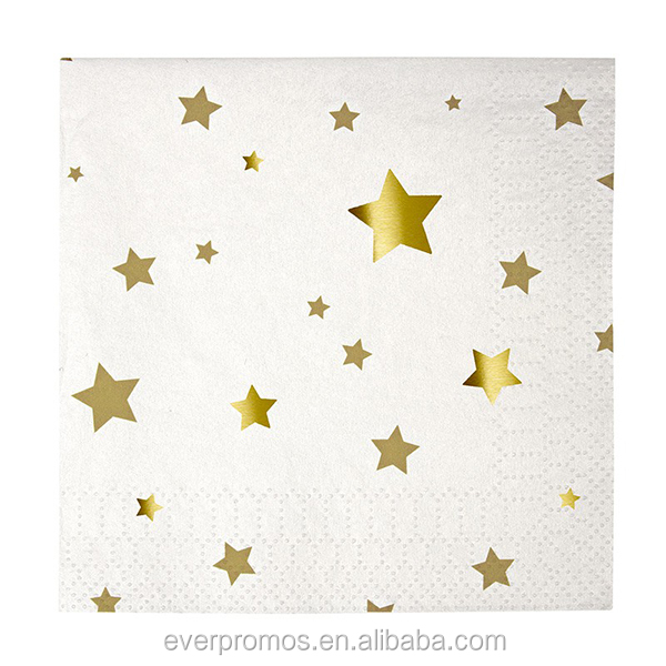 Wholesale Birthday Party Supplies Logo Printed Gold Star Small Party Paper Sets High Quality Paper Plate