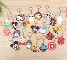 new design custom logo keychains soft rubber plastic key ring chain Cute cartoon doll key chain soft key ring